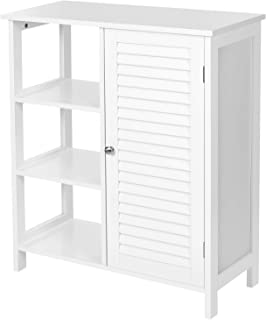 Iwell Bathroom Floor Storage Cabinet