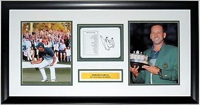 Sergio Garcia Autographed Signed 2017 Masters Scorecard & 8x10 Photo Set JSA Authentic Framed