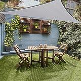 JYCRA, tenda parasole per protezione UV, triangolare, 3x 3x 3m, filtro anti UV, impermeabile,...