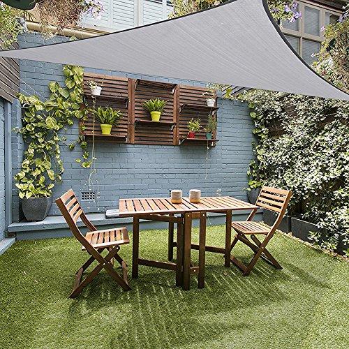 lulalula Voile d'ombrage triangulaire avec protection UV - Voile d'ombrage imperméable pour extérieur, terrasse, jardin, 3 x 3 x 3 m, gris