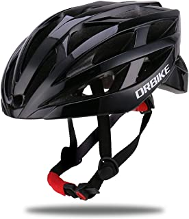 DRBIKE Bike Helmet with Lightweight PC Shell/Soft Replacable EPS Liner/Adjustable Strap and Dial, Adjustable Bicycle Helmet for Road/Mountain/BMX Men Women Youth