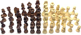 32pcs Wooden International Chess Pieces with No Board,Wood Chess Figures Standard Tournament Chess, More Smooth and Glossy,