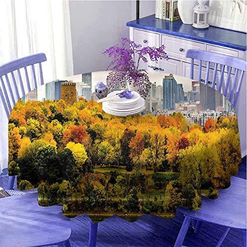 Tovaglia rotonda autunno Hotel Montreal Downtown Grattacieli Autunno vari Alberi Colorati Foresta Urban Life Nature Per parenti Diametro 160 cm Multicolore