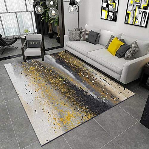 HYY-YY Teppich für den Innenbereich, einfache Geometrie, für Wohnzimmer, Schlafzimmer, bedruckt, gemustert, Fußmatten für Flur
