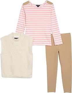 Toddler Girls Lurex Sweater Vest, Knit Top & Jegging