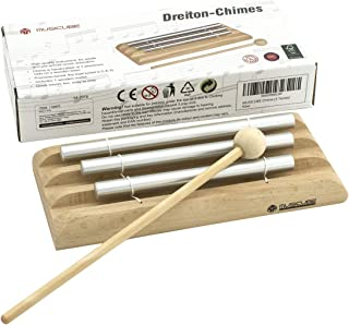 MUSICUBE 3 Tone Chime, The Precision- tuned, Pre-tuned Chime with Mallet Key of C, E, G