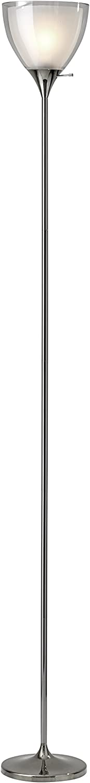 Adesso 3565-09 Presley Floor Lamp, Polished Nickel