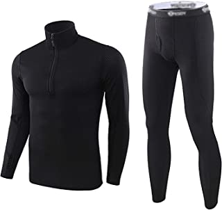 Men's Thermal Underwear Set 2 pcs Long John Underwear Ultra Soft Top and Bottom Base Layer