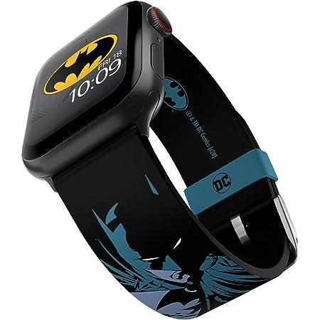 DC Comics - Batman Modern Comic Edition - Cinturino in silicone con licenza ufficiale compatibile con Apple Watch, compatibile con Apple Watch, 38 mm, 40 mm, 42 mm e 44 mm