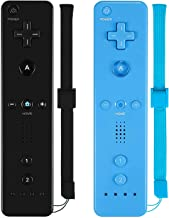 $28 » ZeroStory Remote Controller with Silicone Case and Wrist Strap Compatible for Wii Wii U Console (2 Pack, Black and Blue)