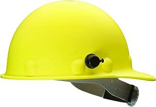 Fibre-Metal by Honeywell P2HNQRW02A000 Super Eight Fiber Glass Ratchet Cap Style Hard Hat with Quick-Lok, Yellow
