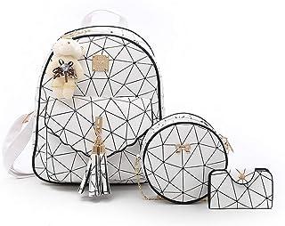 3 Pieces in 1 Set Rucksack Damen Moderne Elegant Mädchen Klein Tasche Für Schule Reise Arbeit Frauen Mode Fashion Teenager...