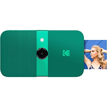 KODAK Smile Instant Print Digital Camera – Slide-Open 10MP Camera w/2x3 ZINK Printer (Green) Sticker Edition.