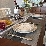 GODTEN Platzdeckchen (8er Set) Platzset Abwischbar – Hitzebeständig und Abgrifffeste Waschbare Tischmatte – Grau Tischset Kunststoff für Küche Speisetisch – 30x45cm (8er, A3) - 3