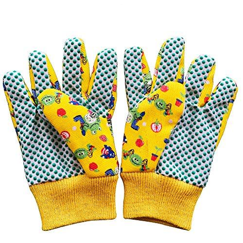 Kids Garden Gloves - PROMEDIX P - 3-6 Years Old Children Gardening Gloves, 2- Pair Pack