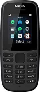 Nokia 105 (2019) with long-lasting battery, durable ergonomic design, inherent color, classic games, radio, flashlight and...