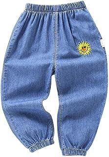 jieGorge Pantalones para niños, Pantalones Largos de Mezclilla con Agujeros de Dibujos Animados para bebés y niñas, Pantal...