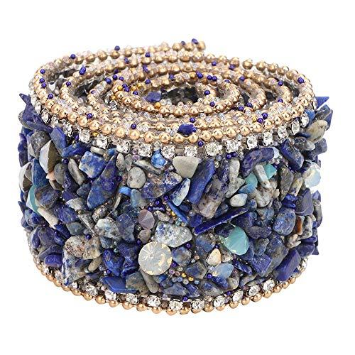 Apliques de diamantes de imitación con bandas, adornos para vestidos de novia, apliques de diamantes de imitación para bricolaje(L35mm-1)