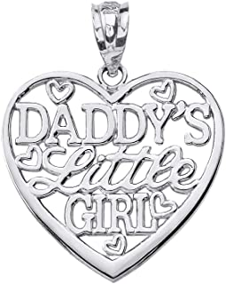 Beautiful 'Daddy's Little Girl' Heart Shaped Necklace Pendant