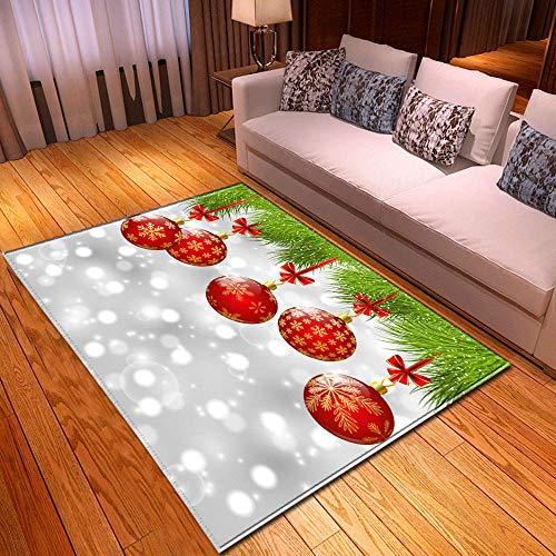XuJinzisa Área De Feliz Navidad Alfombra De Impresión 3D Sala De Estar Dormitorio Hogar Alfombra De Juego Suave Antideslizante Alfombra Decorativa para El Hogar 180X260Cm H17113