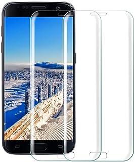 【2枚セット】【2021年最新バージョン】Galaxy S7 Edgeフィルム 専用 強化ガラスフィルム 【日本製旭硝子採用】最大硬度9H/高透過率/3D Touch対応/3Dラウンドエッジ加工/指紋防止/気泡ゼロ/貼り付け簡単【Galaxy ...