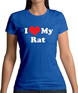 I Love My Rat - Womens T-Shirt - 10 Colours