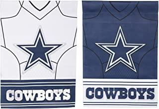 NFL DS Suede Foil Regular Jersey Banner Flag (Set of 2) NFL Team: Dallas Cowboys