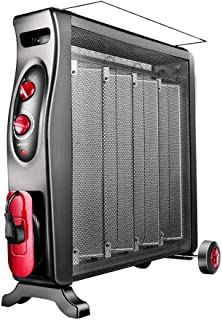 ZOUJUN Electric Heater, Electric Energy-Efficient Radiator Heater Safety Shut-Off -With Detachable Hanger, Overheat Protection( Colour: Black)