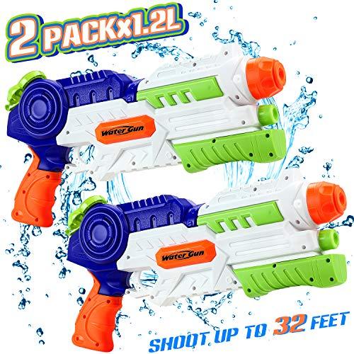 lenbest Pistola de Agua, Pistolas de Agua Grandes, 2 Pack Pi