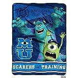 The Northwest Company Disney Monsters Inc University Scarers in Training Micro Raschel Throw Blanket 46'x60' (116cm x 152cm)
