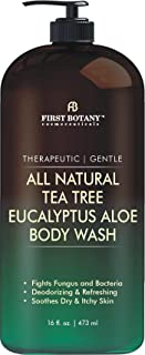 ALL Natural Tea Tree Body Wash - Fights Body Odor, Athlete's Foot, Jock Itch, Nail Issues, Dandruff, Acne, Eczema, Yeast I...