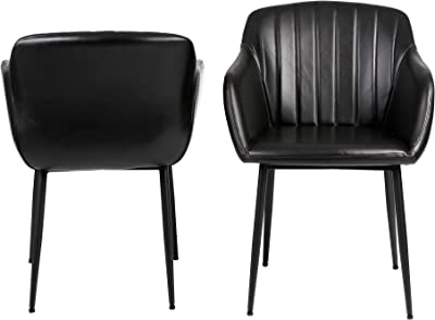 Cooper & Co. Living Amber Dining Chairs Set of 2, Black