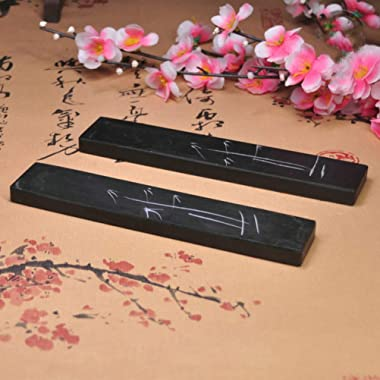 NUOBESTY 4pcs Chinese Calligraphy Paperweight Carved Stone Paperweight Pressing on The Paper Calligraphy Sumi Brush Rest Hold