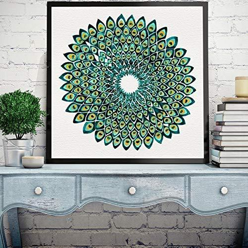 Mandala Abstracta Sin Marco Carteles E Impresiones De Pared De Pavo Real Colores Brillantes Cuadros Modernos De Lienzo Decoración Del Hogar & Lt; & Gt; 30X45Cm