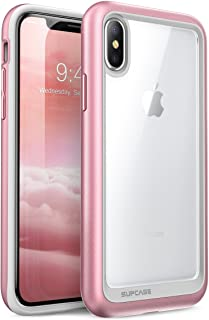 SUPCASE iPhone X Case, Unicorn Beetle Style Premium Hybrid Protective Clear Case for Apple iPhone X 2017 Release Rose Gold