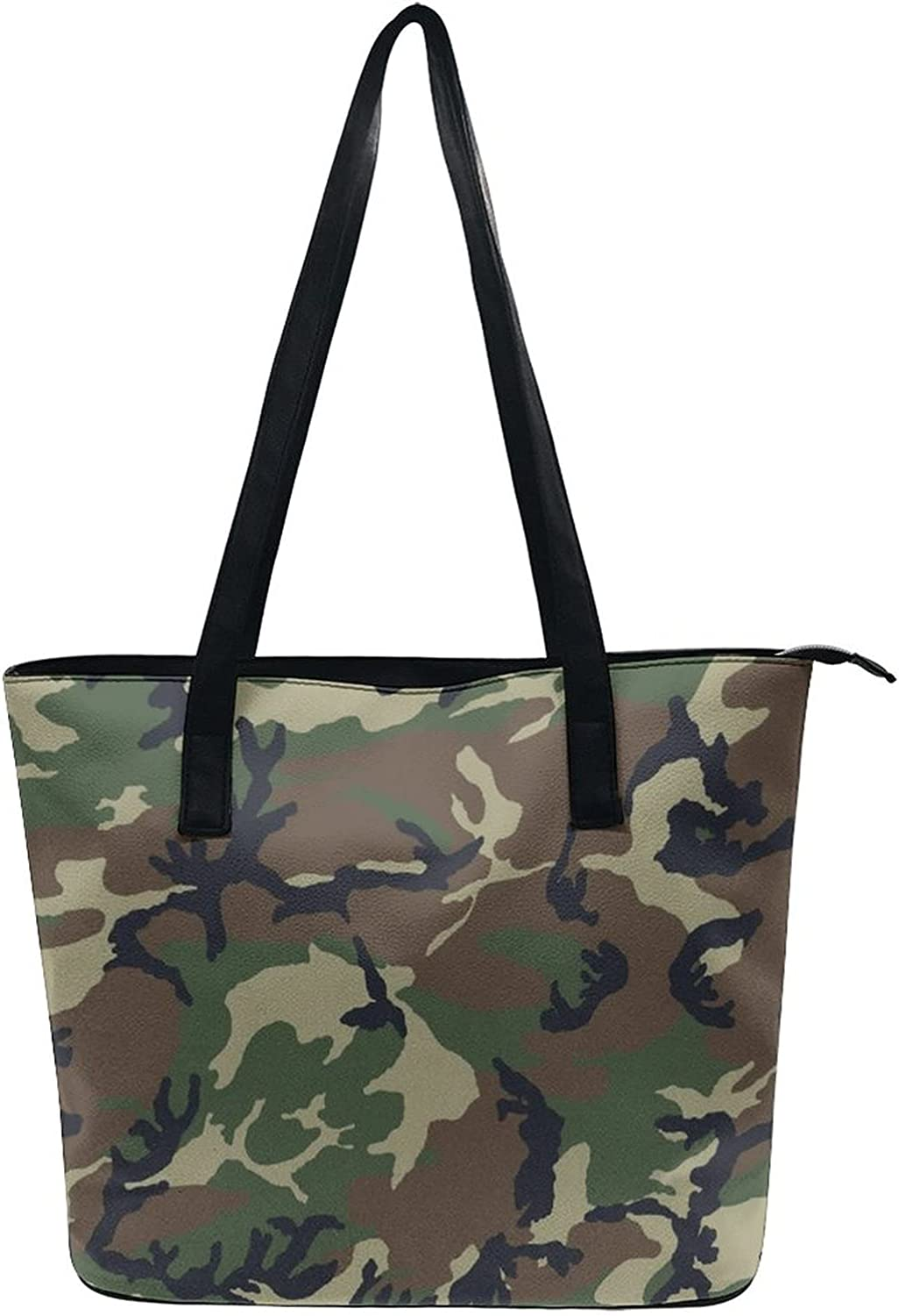 Army Camouflage 3D Print Shoulder Tote Bag Beach Satchel Bags For Women Lady Large Capacity Hobo Bag