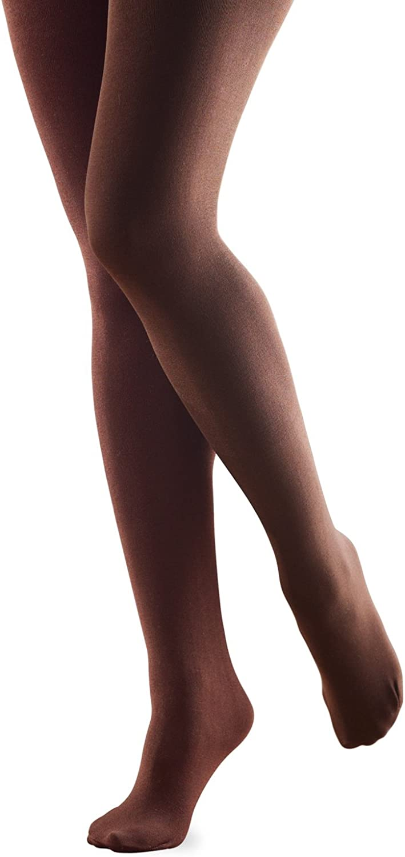 FootSmart Women's Fleece Lined Tights (Brown, Large)