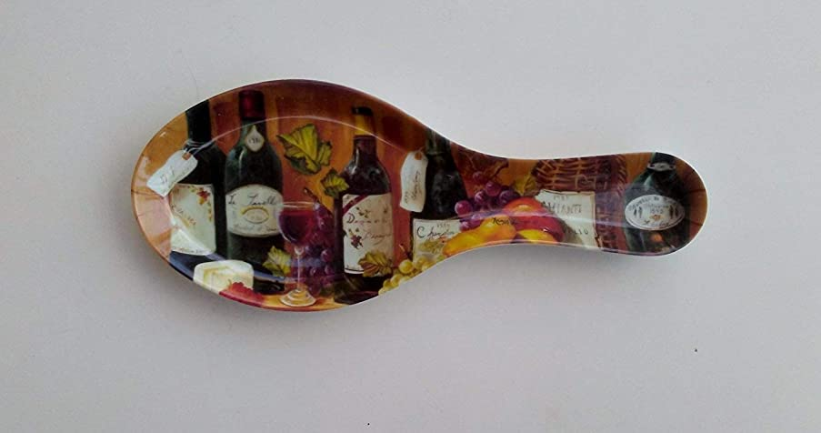 Fruit and Wine Melamine Plastic Spoon Rest