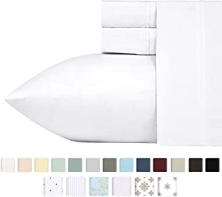 ff84295ef91d 400-Thread-Count California-King Sheets and Pillowcases Set, Pure White 100
