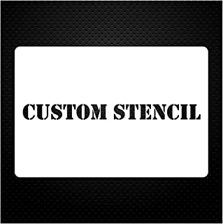 1 Line Custom Stencil 12x24 - Custom Laser Cut - Anything You Want - Strong Polyester Mil 10 - US Made (12X24)