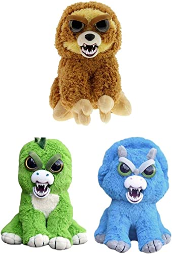 muchas concesiones William Mark Corp Feisty Feisty Feisty Pets 8  Angry Plush Bundle  Sloth, Stegosaurus, Triceratops  autorización oficial
