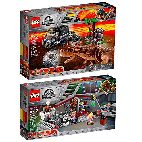 Lego Jurassic World 2er Set 75932 75929 Jagd auf den Velociraptor + Carnotaurus - Flucht in der Gyrosphere