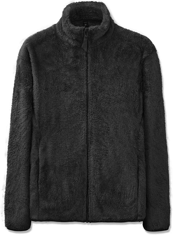Haellun Mens Full Zip Fleece Jackets Soft Polar Fleece Coat Warm Winter Outdoor