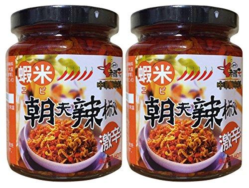 老騾子 蝦米(エビ) 朝天辣椒 激辛 具入り中国調味料 240g 2瓶セット
