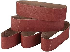 4 Inch x 36 Inch Sanding Belts, 60/80/120/240/320 Grits, Belt Sander Tool for Woodworking, Metal Polishing, 5 Pack Aluminum Oxide Sanding Belt