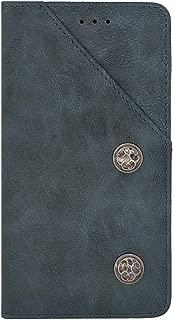 ZYQ ブルー Gel シリコーン TPU Silicone レザー スマホ ケース 保護 純正 カバー ケース Leagoo Kiicaa Mix Genuine レザー 耐汚れ 保護 手帳 財布型 レザー ウォレット 上質