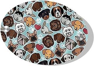 Bulldog Chihuahua Siberians Love Heart Paw Door Decoration Card MDF 5.5