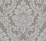 A.S. Création 329842 32984-2 Memory 3 Papier peint intissé Motif baroque Gris/blanc 10,05 m x 0,53 m