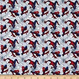 Springs Textiles Marvel Spiderman Web Crawler Stoff,