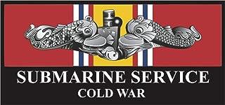 Magnet US Navy Submarine Service Silver Dolphins Cold War Veteran Military Veteran Served Vinyl Magnet Car Fridge Locker Metal Decal 3.8